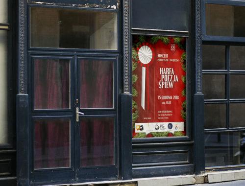 Plakat koncert Harfa Poezja Spiew